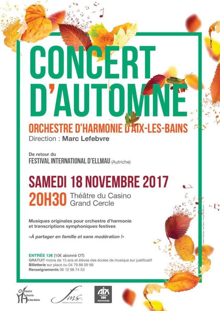 Concert d'automne 2017